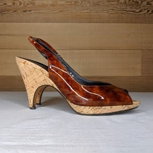 Donald J Pliner couture brown heels